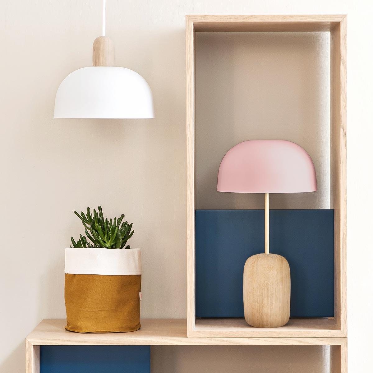Table lamp nina pink houm design shop table lamp nina pink geotapseo Gallery