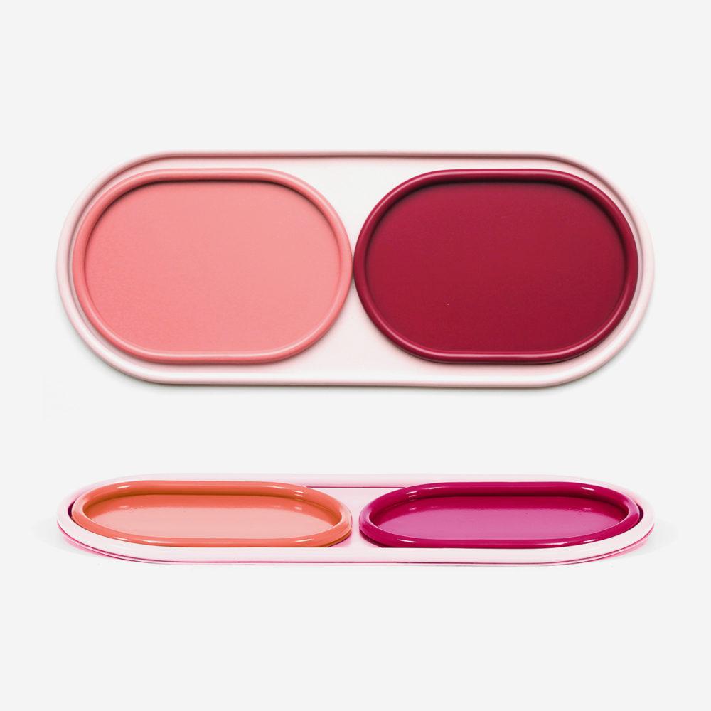 Set of trays Léon, pink
