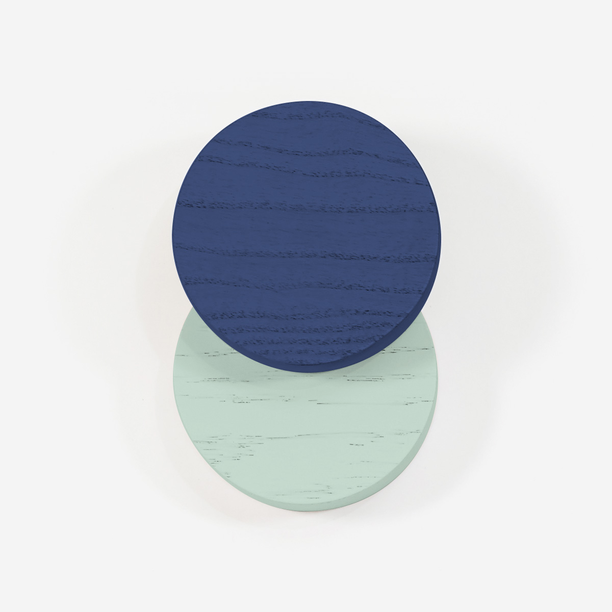 Hook Lou, navy blue and pastel green