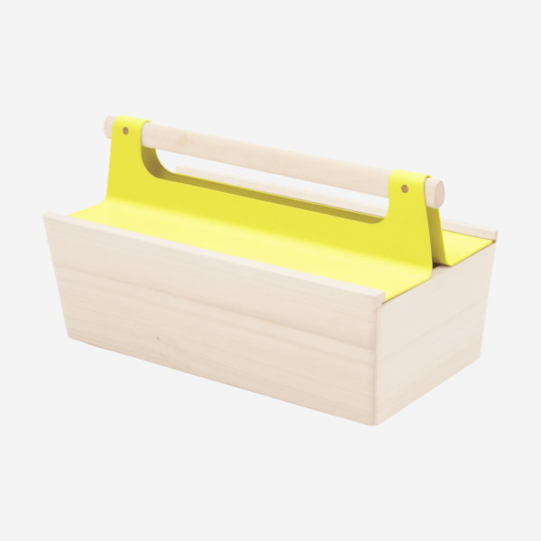 Toolbox Louisette, lemon yellow