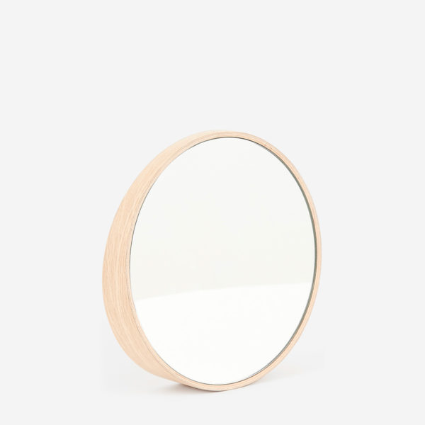 Table and wall mirror Odilon 25cm, oak