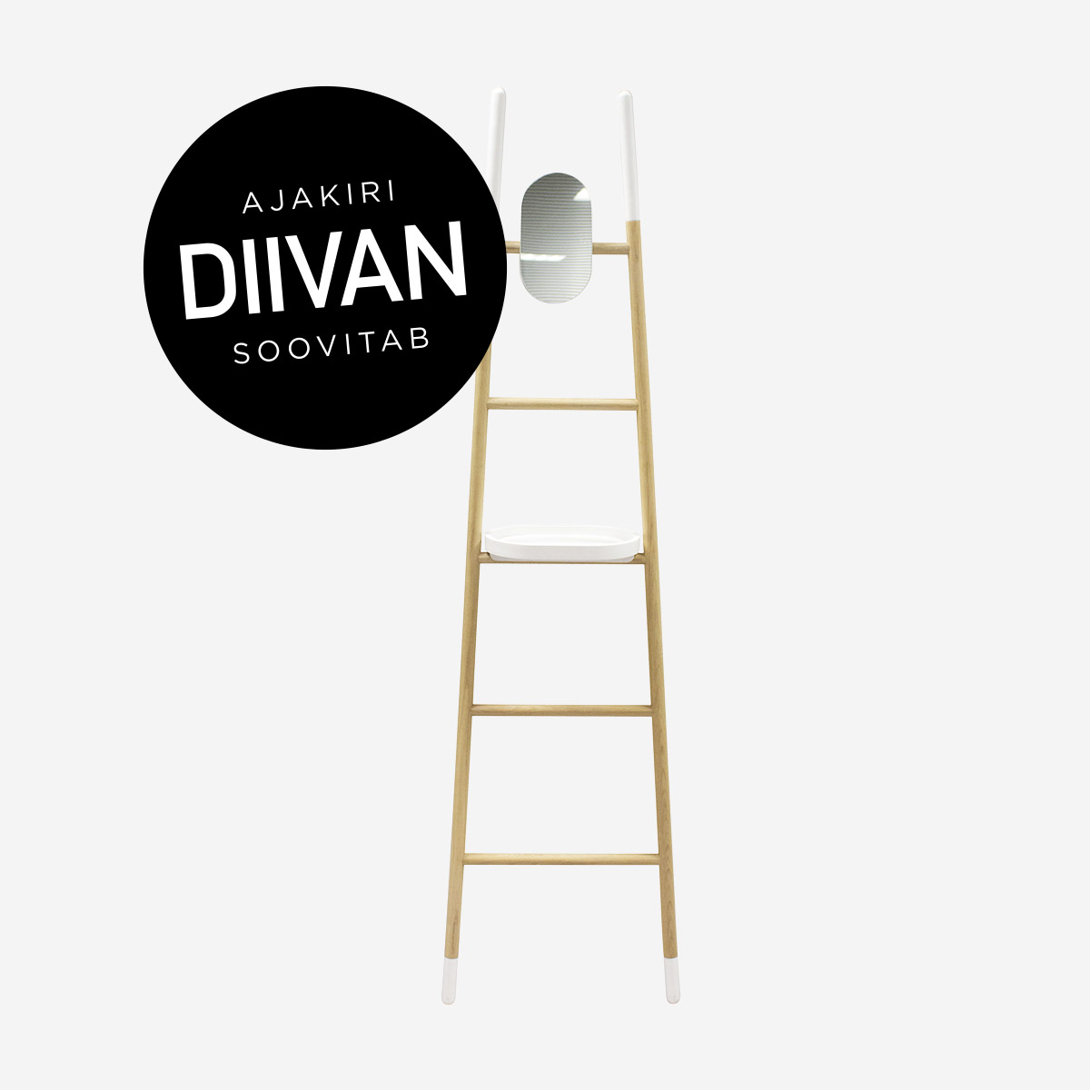 Clothes rack Arlette, magazine Diivan