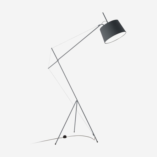 Floor lamp Elisabeth, grey