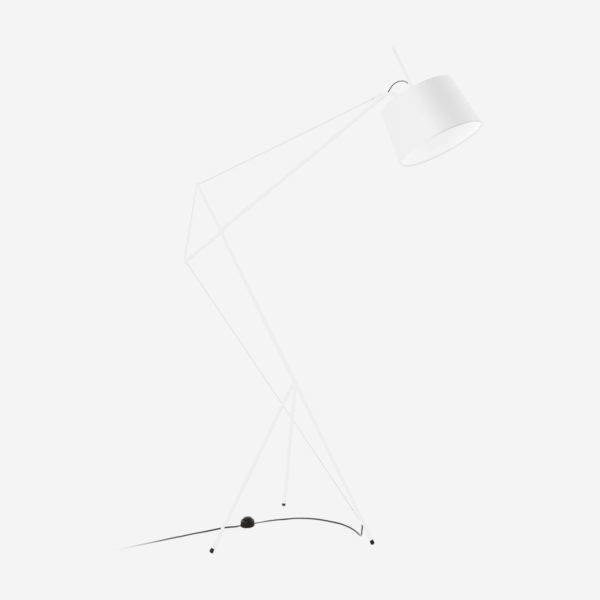 Floor lamp Elisabeth, white