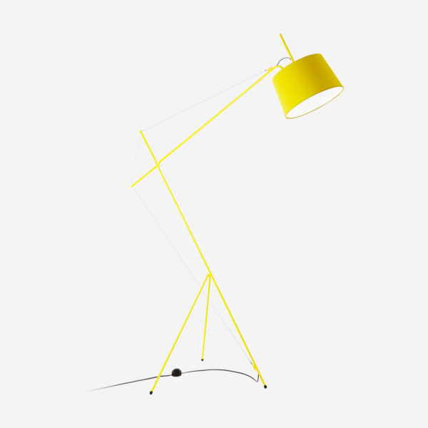 Floor lamp Elisabeth, yellow