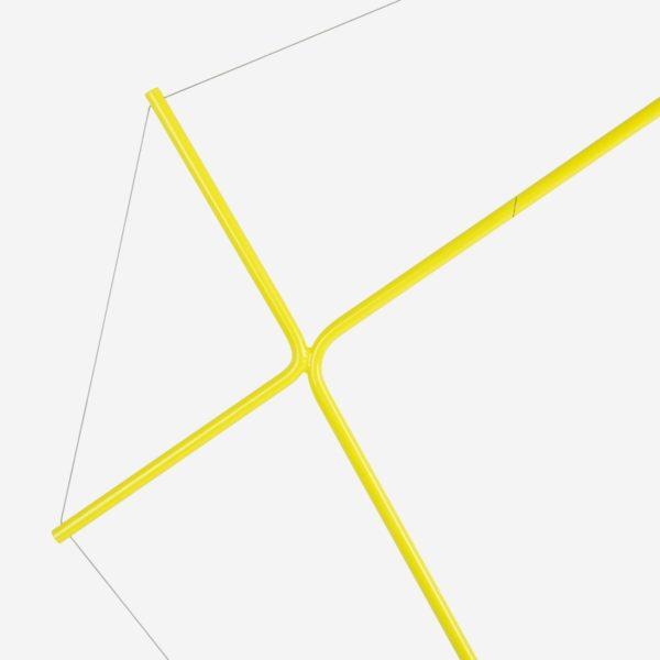Põrandavalgusti Elisabeth, kollane