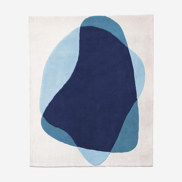 Rug Serge, blue and grey