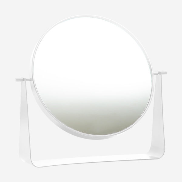 Table mirror Narcisse, white